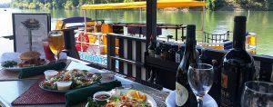 Enjoying lunch at the Virgin Sturgeon on the Sac Brew Boat.