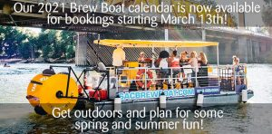 Brew Boat available for bookings starting March 13th